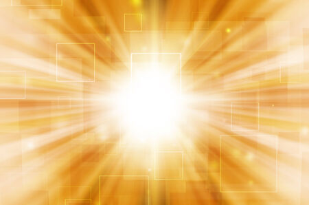 Abstract light tech on yellow background. Stock Photo