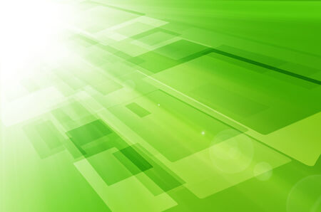 Abstract light technology on green background. Stock Photo
