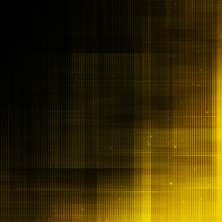 Abstract lines on dark yellow background.