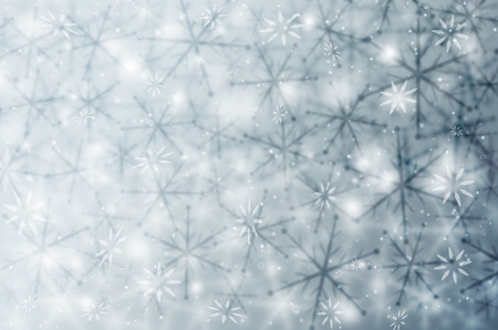 christmas abstract background with snowflakes. Stock Photo