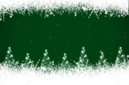 Abstract green christmas background. Stock Photo