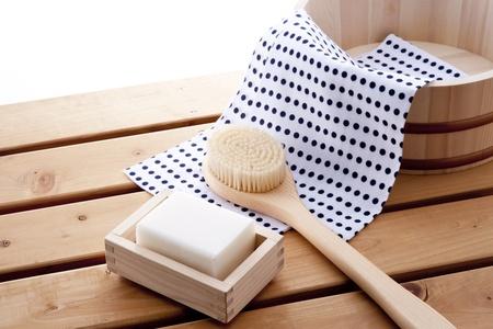 japanese taking bath style image Stock Photo - 12856658