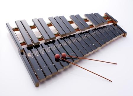 xilofono: instrumento de percusión de madera llamado xilófono Foto de archivo