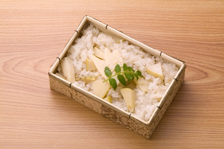traditional Japanese food of bamboo shoots photo