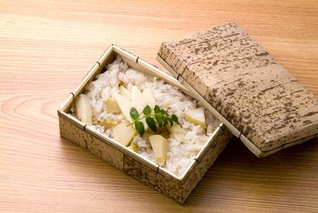 japanese delicious bamboo shoots food photo