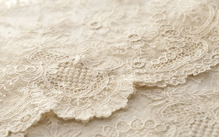 a background image of ivory-colored lace cloth photo