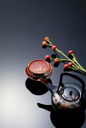 japanese sake: imagen tradicional de Japón del año nuevo