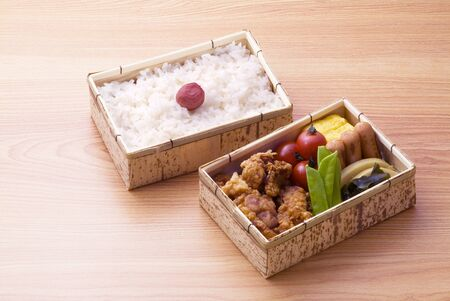 japanese lunch box on floor photo