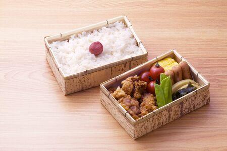 japanese lunch box on floor