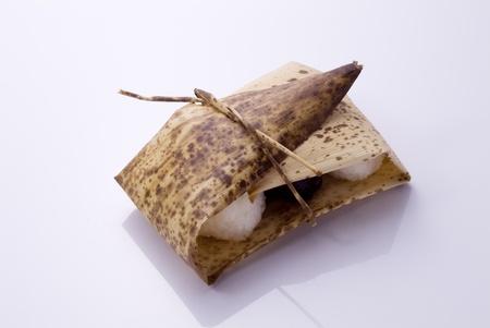 sheath: rice ball wrapped bamboo sheath Stock Photo