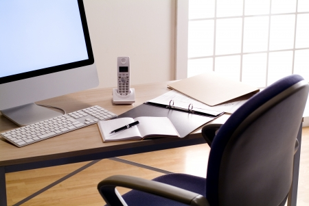 desk work  of office workers Stock Photo - 13104664