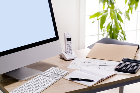 desk work  of office workers
