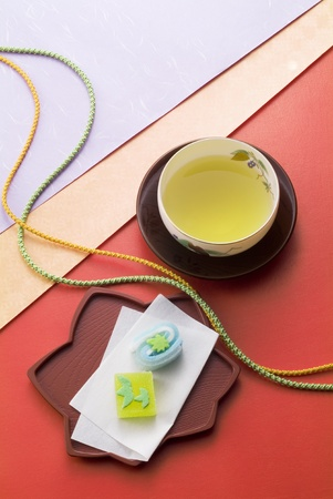 traditional culture image of japanese tea time