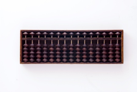Abacus isolated on white background photo