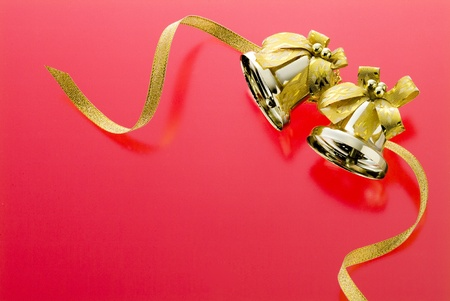 christmas image goods on red background Stock Photo - 13130742