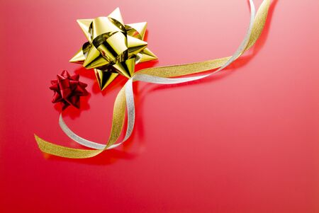 christmas image goods on red background photo