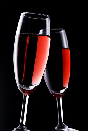 tannin: Red wine on black background Stock Photo
