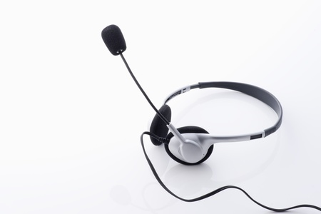 servile: Headset in the white background.