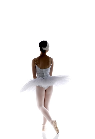 animal tutu: young ballet dancer is posing