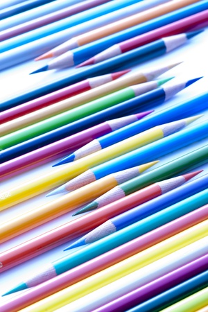 Colored pencils on the white background Stock Photo - 13237849