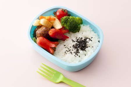 japanese lunch box on white background
