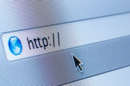 Internet address, computer screen Stock Photo - 14666050