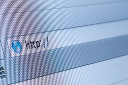 Internet address, computer screen Stock Photo - 14666052