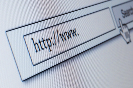 Internet address, computer screen Stock Photo - 14666040