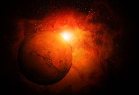 Sistema Solar - Marte. Es El Cuarto Planeta Del Sol. Marte Es Un ...