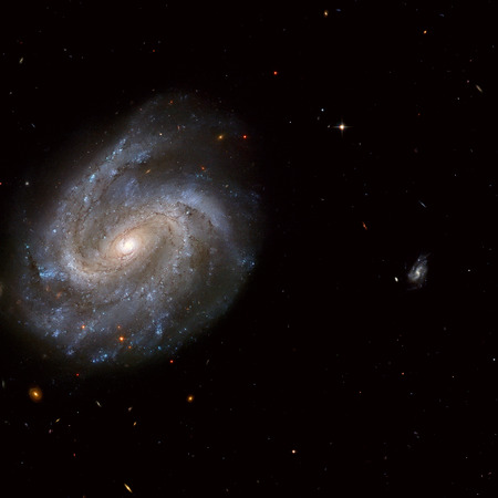 NGC 201 is a barred spiral galaxy similar to our own galaxy, the Milky Way. Located in the constellation of Cetus. Retouched image. Reklamní fotografie