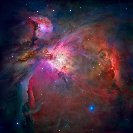 messier: The Orion Nebula or Messier 42 is a diffuse nebula situated in the Milky Way, in the constellation of Orion. Retouched image with small DOF. Elements of this image furnished by NASA.