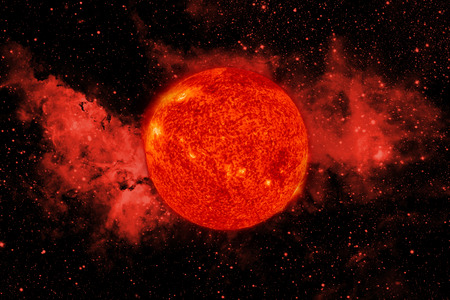 referred: Solar System - Sun. It is the star at the center of the Solar System. Sun is a G-type main-sequence star and it is informally referred to as a yellow dwarf. Stock Photo