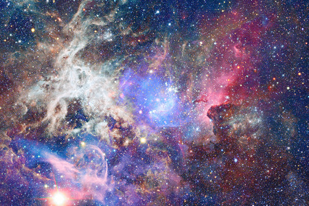 galaxies: Nebula and galaxies in space. Stock Photo