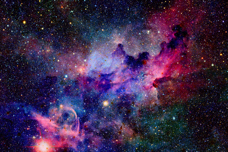 Nebula and galaxies in space. Elements of this image furnished by NASA. 免版税图像 - 70203775