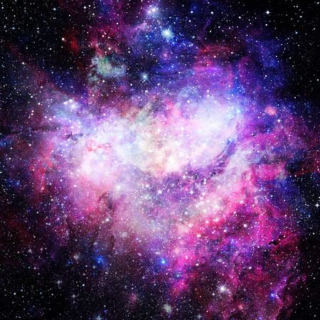 Nevel en sterrenstelsels in de ruimte. Elementen van deze afbeelding geleverd door NASA.