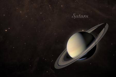 Zonnestelsel - Saturnus. Het is de zesde planeet van de zon.