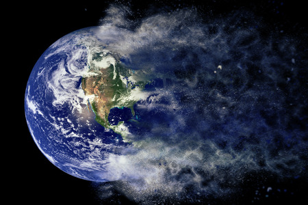 Planet Explosion - Earth. Elements of this image furnished by NASA Stock Photo