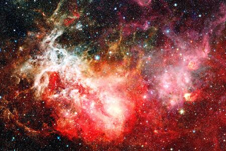 Beautiful nebula and Galaxy. Elements of this Image Furnished by NASA Stock Photo