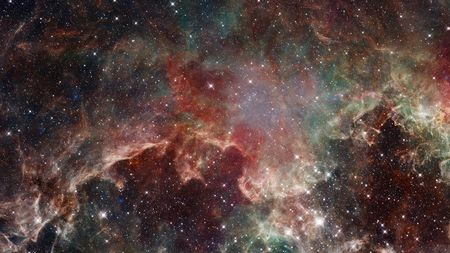 starry night: Colorful space nebula with stars. Elements of this image furnished by NASA. Stock Photo