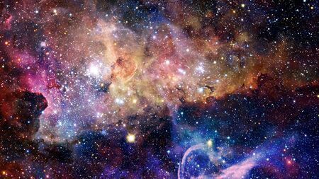 starfield: Natural background, abstract space. Elements of this image furnished by NASA. Stock Photo