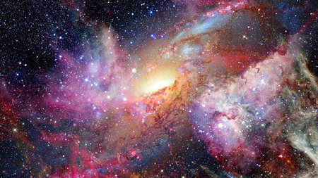 starry night: Open space with nebulae and galaxies. Elements of this image furnished by NASA