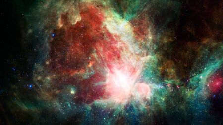 starry night: Nebulae and galaxies. Elements of this Image Furnished by NASA