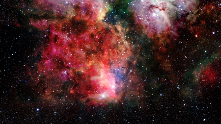 the pleiades: Natural background, abstract space. Elements of this image furnished by NASA. Stock Photo