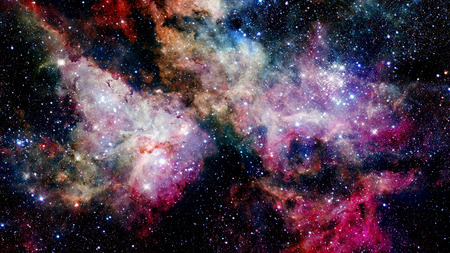 Nebulae and galaxies. Elements of this Image Furnished by NASA