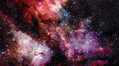starry night: Natural background, abstract space. Elements of this image furnished by NASA. Stock Photo