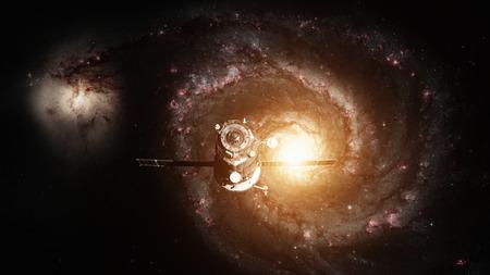 Spacecraft Progress orbiting the galaxy