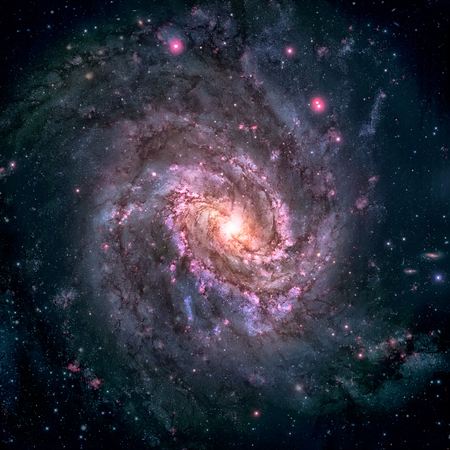 messier: Messier 83, Southern Pinwheel Galaxy, M83 Stock Photo