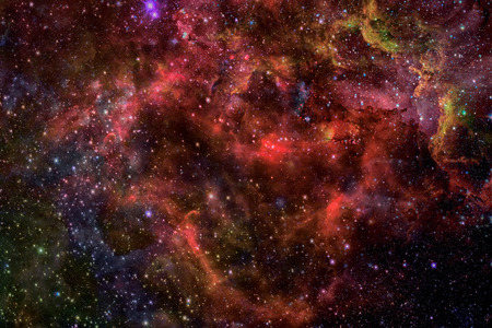 matter: Nebula and galaxies in dark space. Elements of this image furnished by NASA.