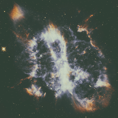 musca: Spiral Planetary Nebula or NGC 5189. Located in the constellation Musca. 1,780 light years away from Earth. Elements of this image furnished by NASA.