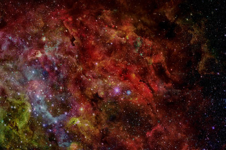Abstract scientific background - galaxy and nebula in space. Elements of this image furnished by NASA Stock Photo - 81282237